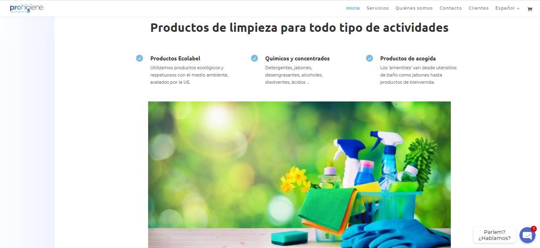 Prohigiene productos de limpieza ecológicos